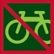 Zákaz jízdy na kole do porostu