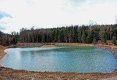 Lesy České republiky obnovily vodní nádrž na Frýdlantsku