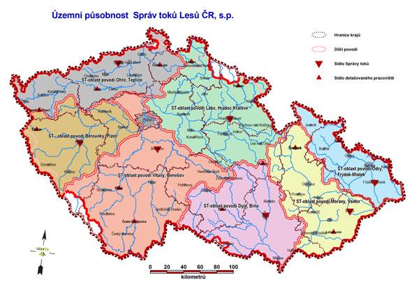 Mapa Pusobnosti Lesy Ceske Republiky S P
