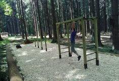 Lesníci loni zřídili v lesích u Trhové Kamenice stezku a nyní tělocvičnu