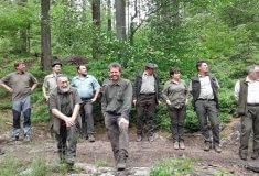 Společná akce slovenských, polských ačeských lesníků na lesní správě Jablunkov