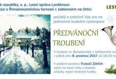 Zveme na předvánoční troubení v Jablonném nad Orlicí