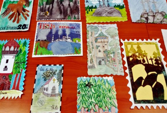 Děti v Karlovarském kraji tvořily poštovní známky s motivem přírody