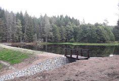 """Rekonstrukcí jednoho z """"Bečovských lesních rybníků"""" prospěly Lesy ČR krajině i chráněným rostlinám a živočichům"""